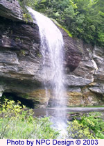 Bridal Veil Falls, Highlands NC